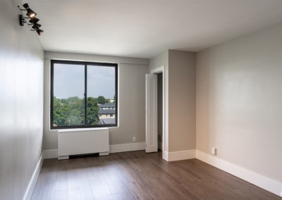 Bedroom with a view at an apartment for rent in Fort Lee, NJ